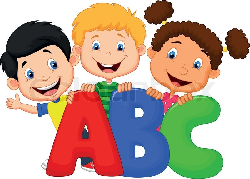 school kids cartoon with abc - Cartoon Pictures For Kids