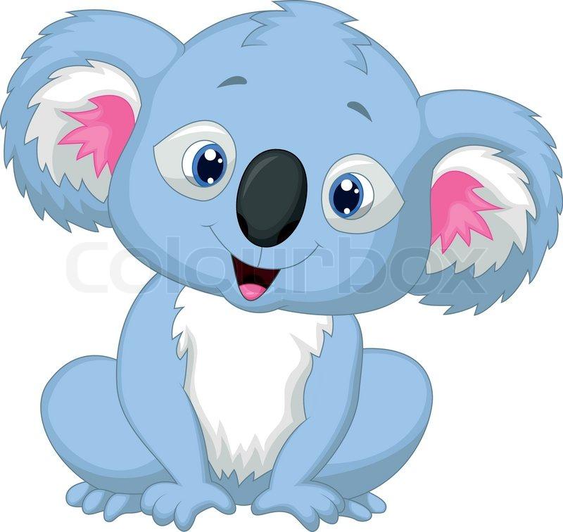 Vector illustration of Cute koala ...   Stock Vector ...