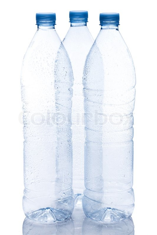 Stock image of 'Empty water bottle on white background'