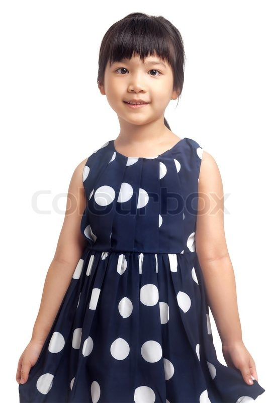Stock image of 'Smiling little girl isolated on white background'