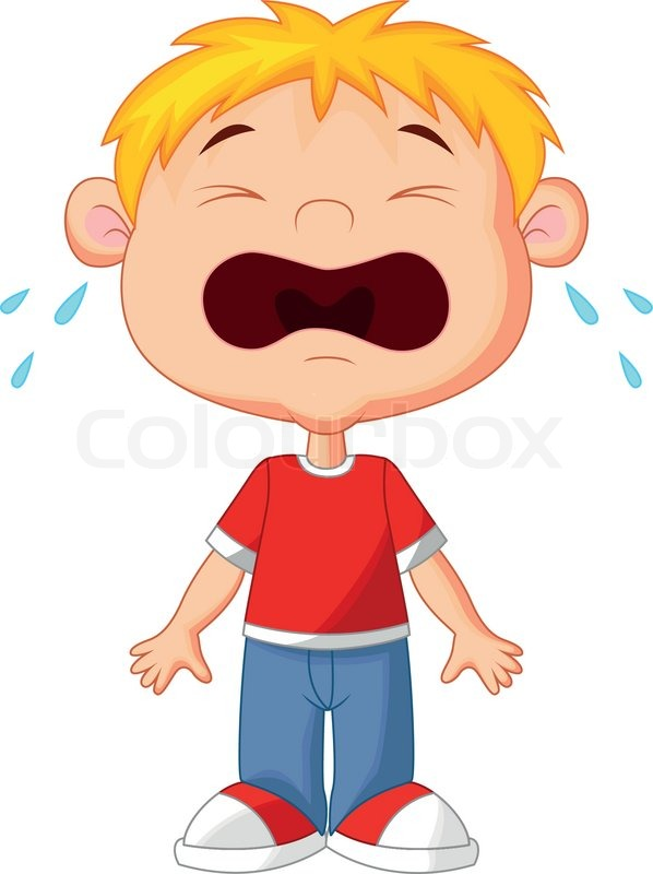 vector illustration of young boy cartoon crying stock vector rh colourbox com crying baby images clip art free crying baby clip art