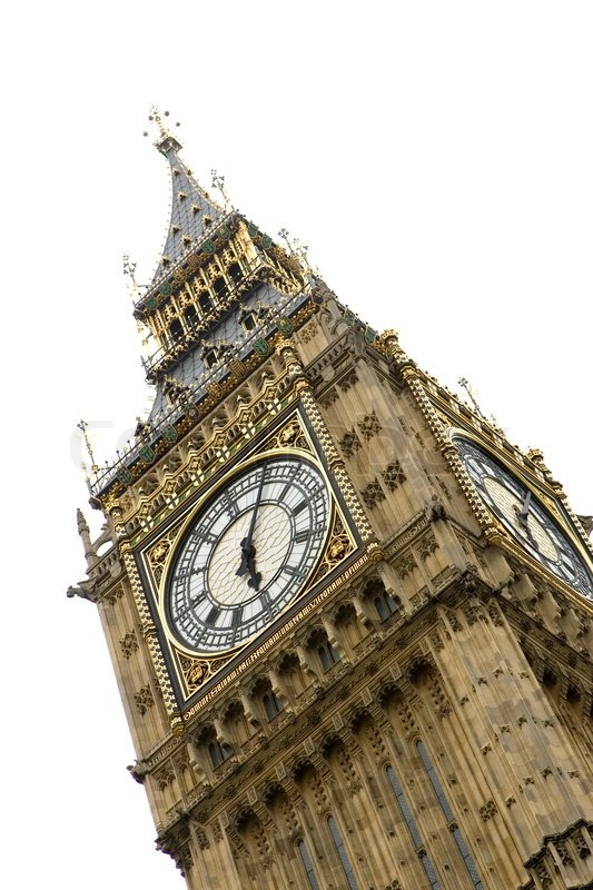 Stock image of 'Slanting image of Big Ben in London'