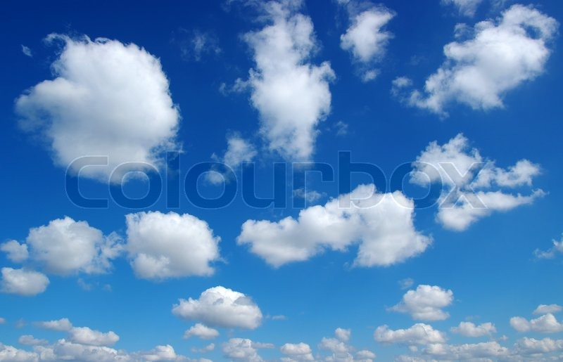 Stock image of 'blue sky background with white clouds'