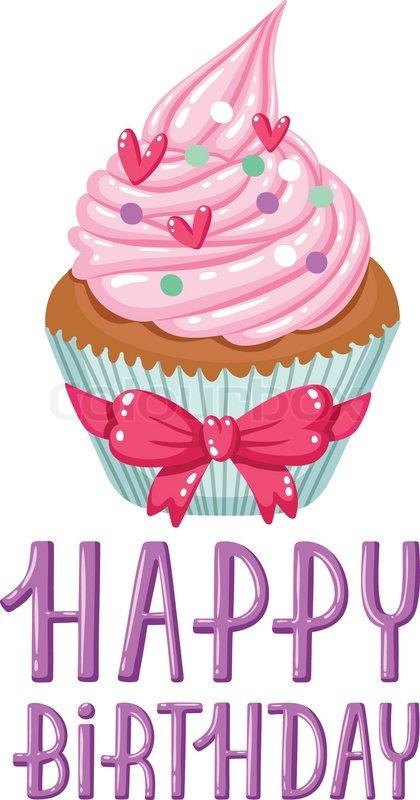 Geburtstag Cupcake Vektorgrafik Colourbox