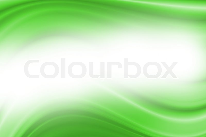 Stock image of 'Green abstract lines with wave background'
