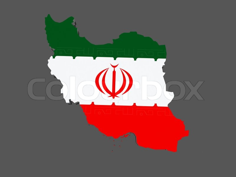 Stock image of 'Map of Iran. 3d'