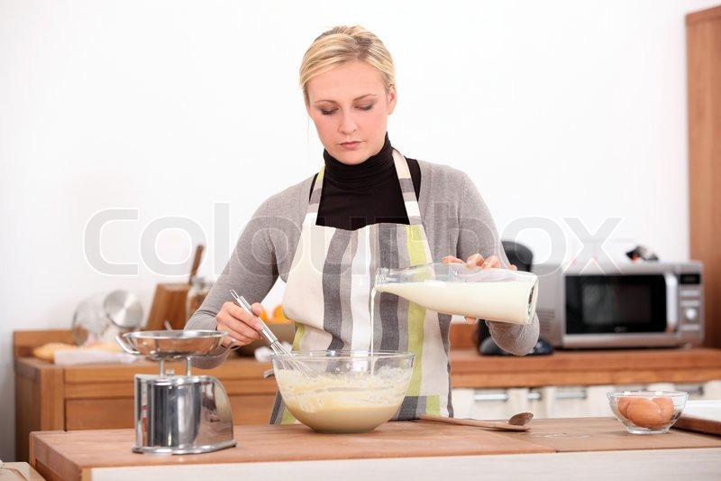 Stock image of 'Woman in the kitchen'