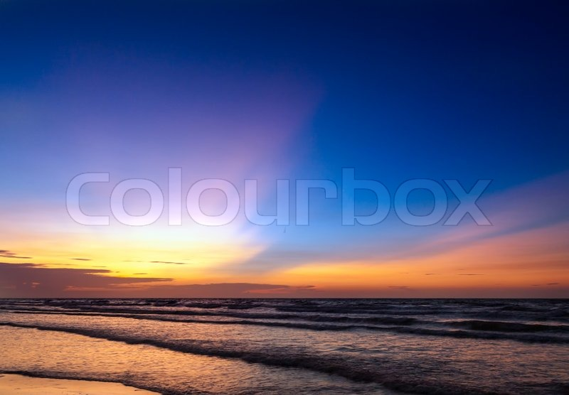 Stock image of ' beautiful sunset on the beach'