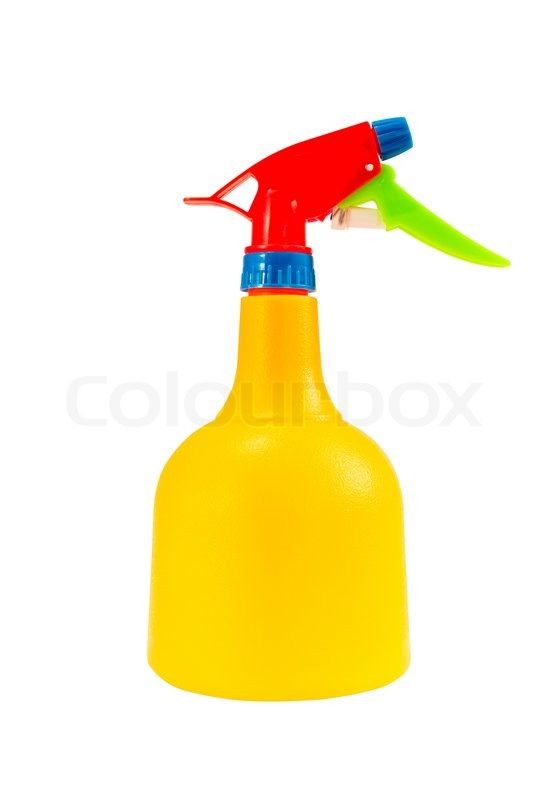 Stock image of 'colorful plastic foggy spray bottle isolated on white background with clipping path'