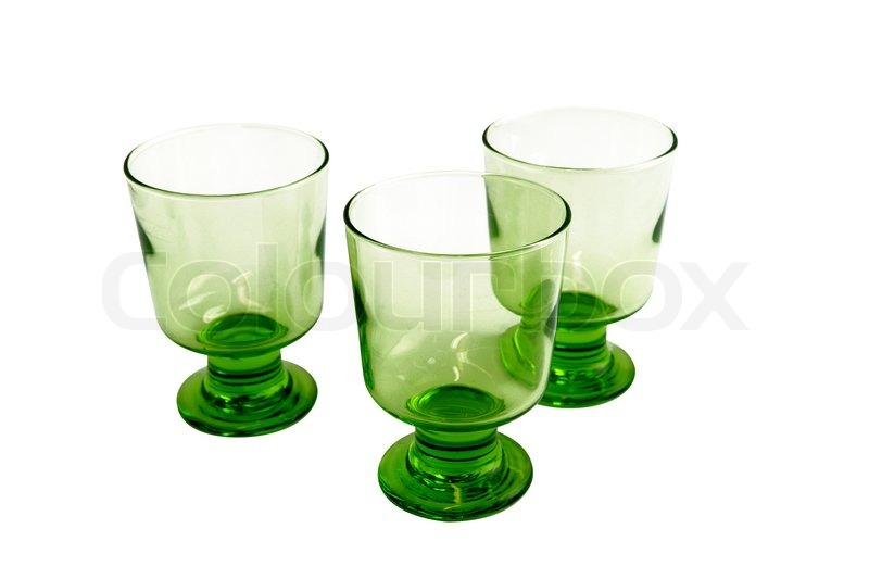 Stock image of 'Three green glasses'