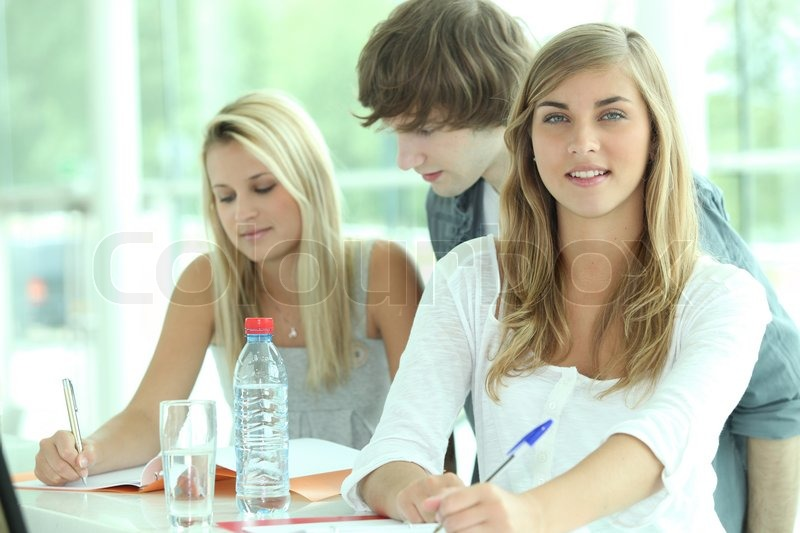 Stock image of 'Students studying'