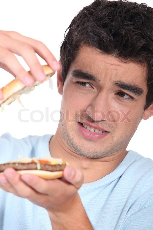 Stock image of 'Hamburger with surprise'