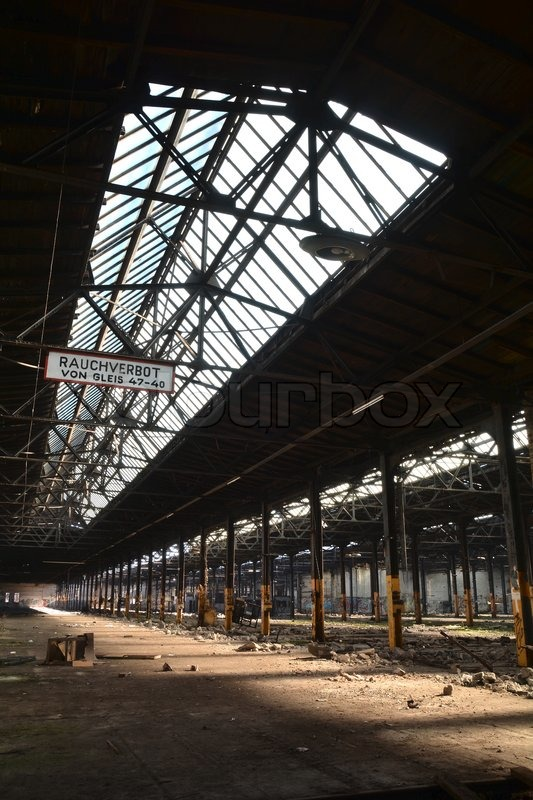 Stock image of 'in a disused factory in Magdeburg'