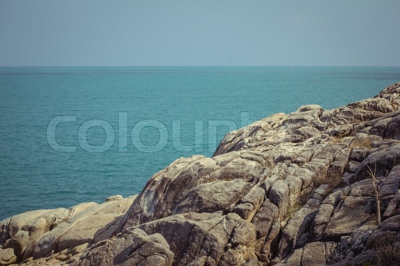 Stock image of 'View of a rocky coast in the island'