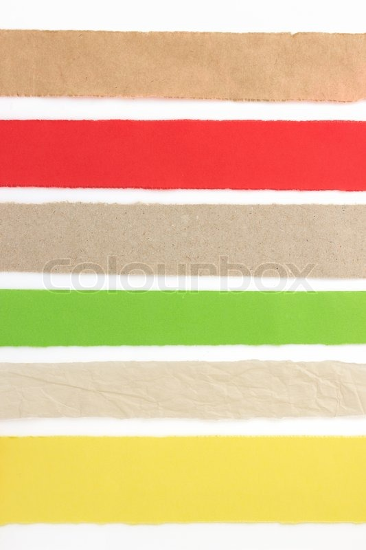 Stock image of 'torn paper strip isolated on white background'