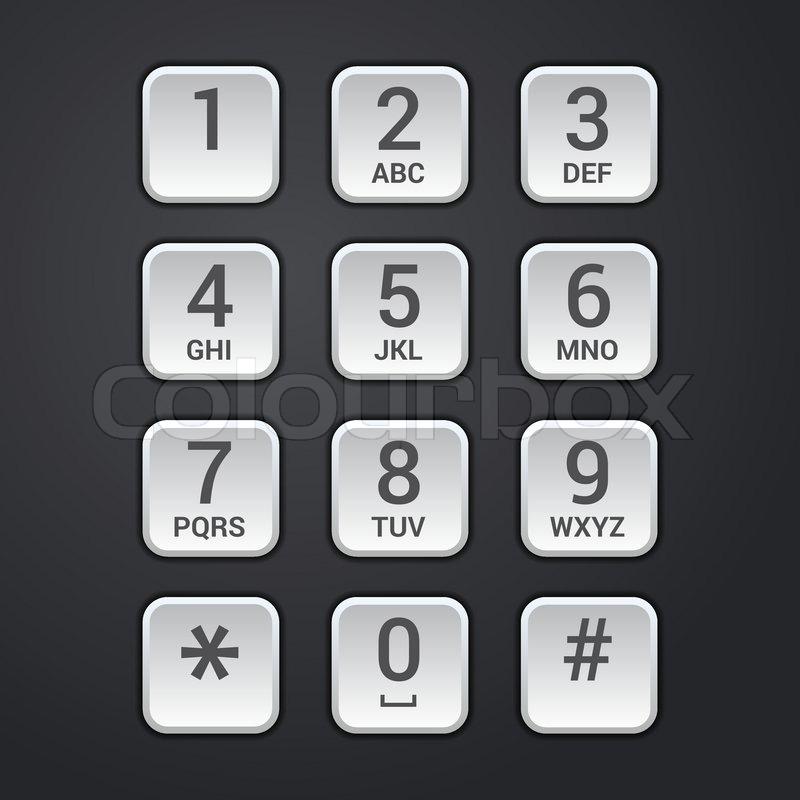 Digital Dial Teller Mit Security Lock Stock Vektor