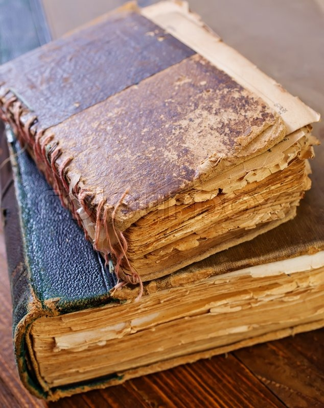 Stock image of 'Old books'