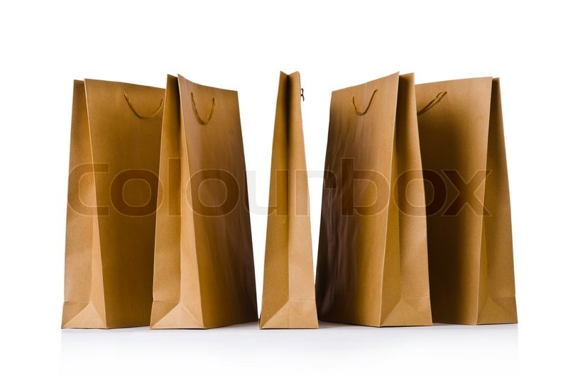 Stock image of 'Shopping bags isolated on the white'