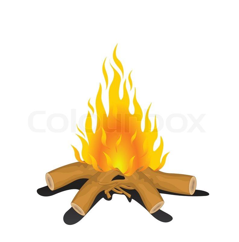 Bonfire Icon Stock Vector Colourbox