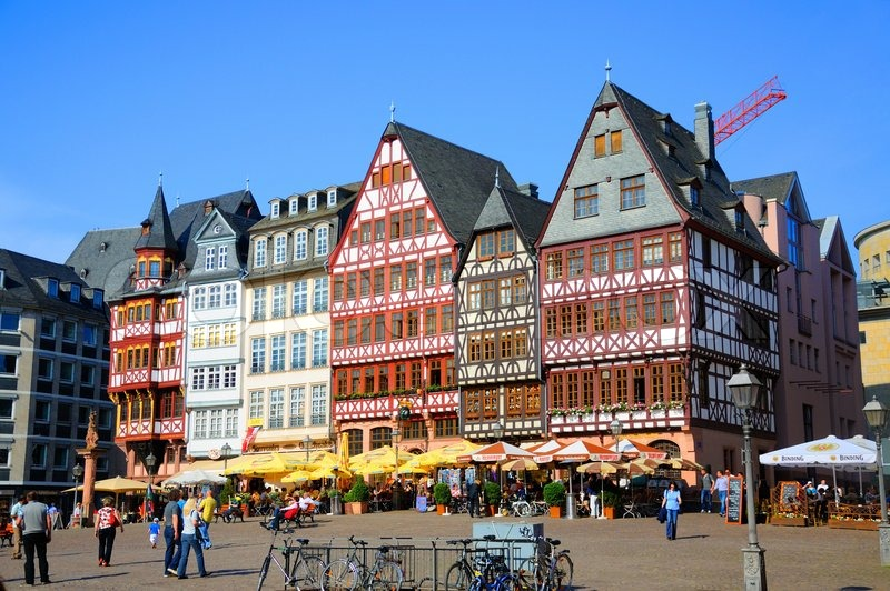Romerberg Romerplatz With Old Buildings Frankfurt Am Main - Hessen germany