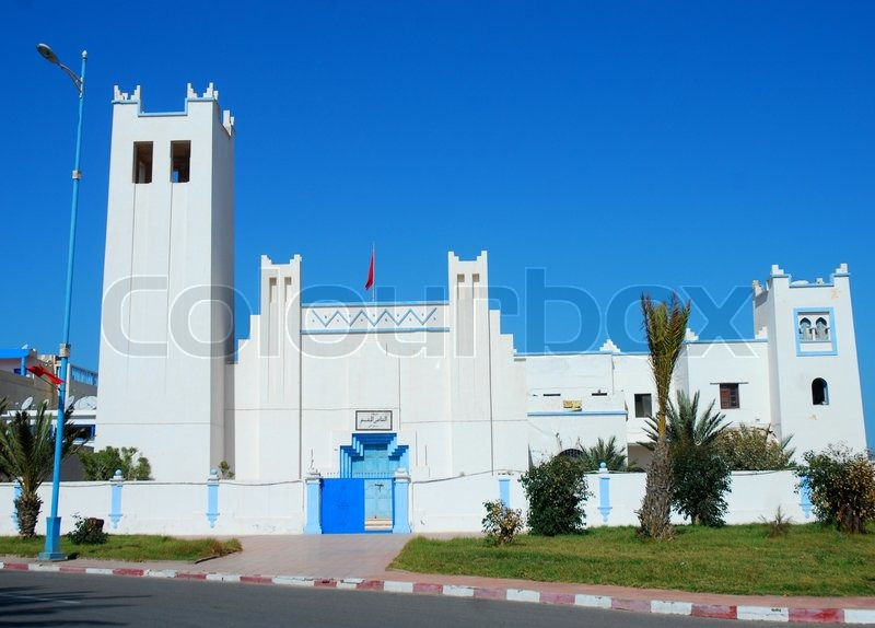 Stock image of 'Main Mosque in Sidi Ifni, Southern Morocco'