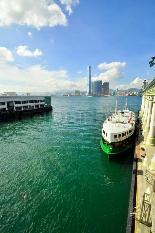 Stock image of 'Hong Kong Island ferry China cost 20 cents'