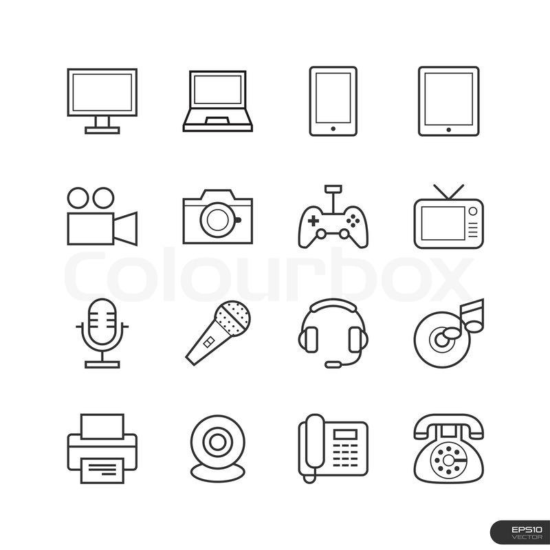 Großartig Symbole Für Elektronische Komponenten Zeitgenössisch ...