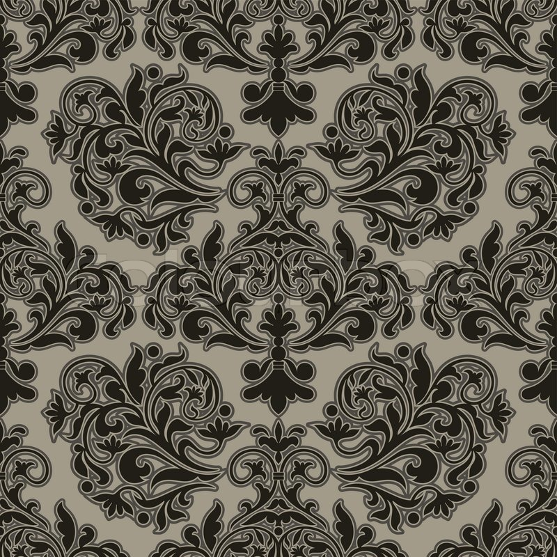 Damask Beautiful Background With Rich Old Style Luxury