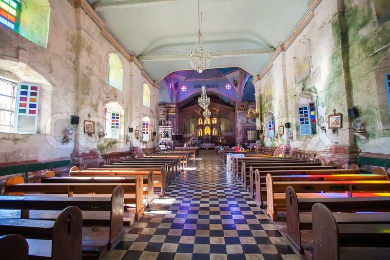 Stock image of 'Beautiful Catholic Church in an exotic country indoor'