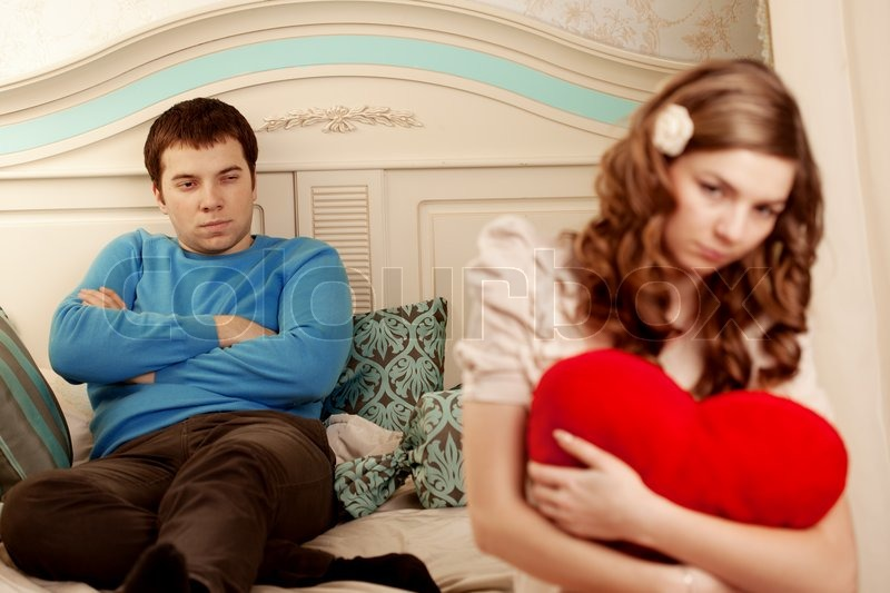 Stock image of 'Quarrel and hurt two loving home'