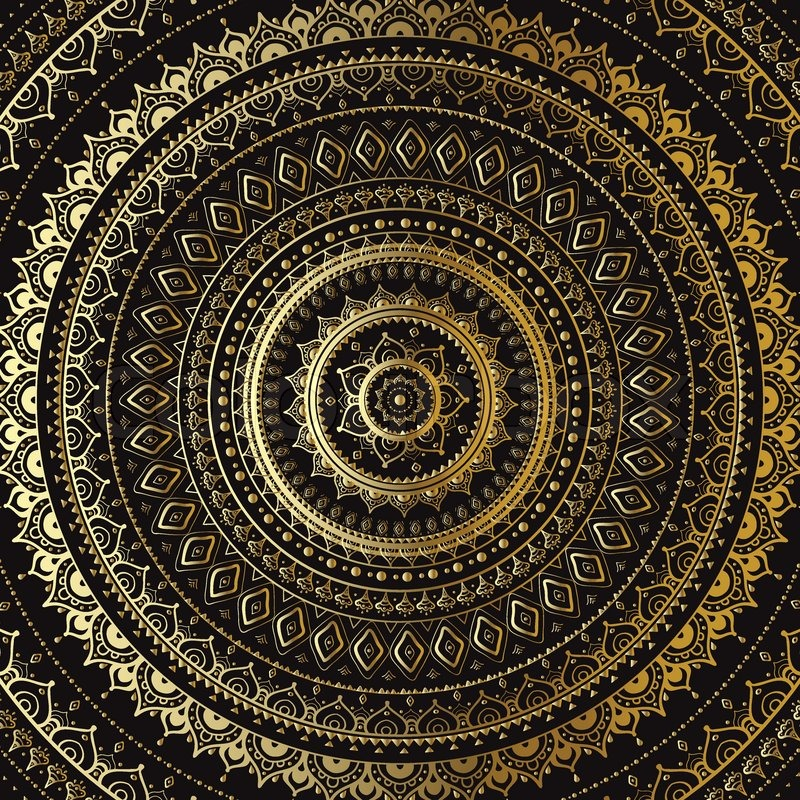 Vector Vintage Background Mandala Indian Decorative Pattern