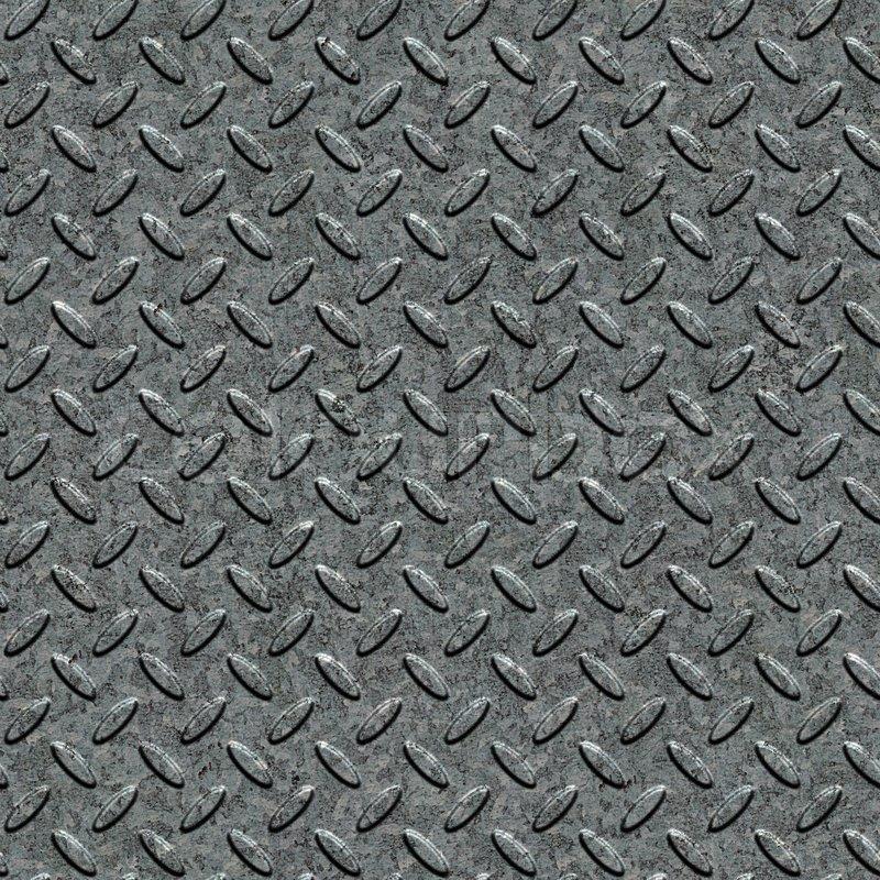 Metal Diamond Plate Surface Seamless Stock Photo