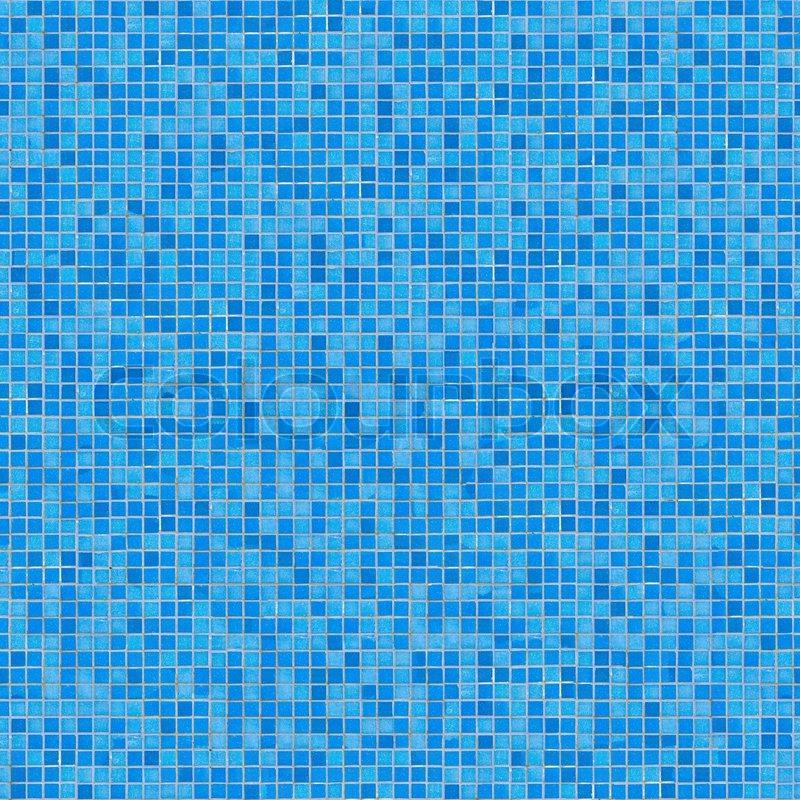 Blue Ceramic Mosaic Seamless Tileable Texture Stock
