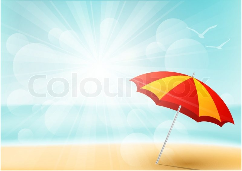 Summer beach background for Your design, vector
