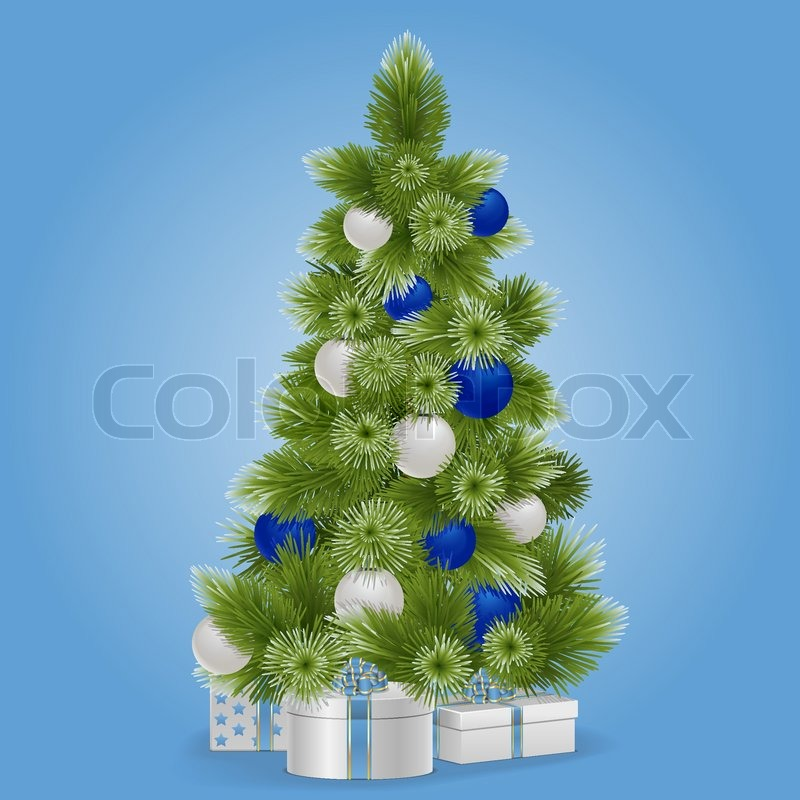 Vektor verschneit weihnachtsbaum vektorgrafik colourbox - Weihnachtsbaum vektor ...