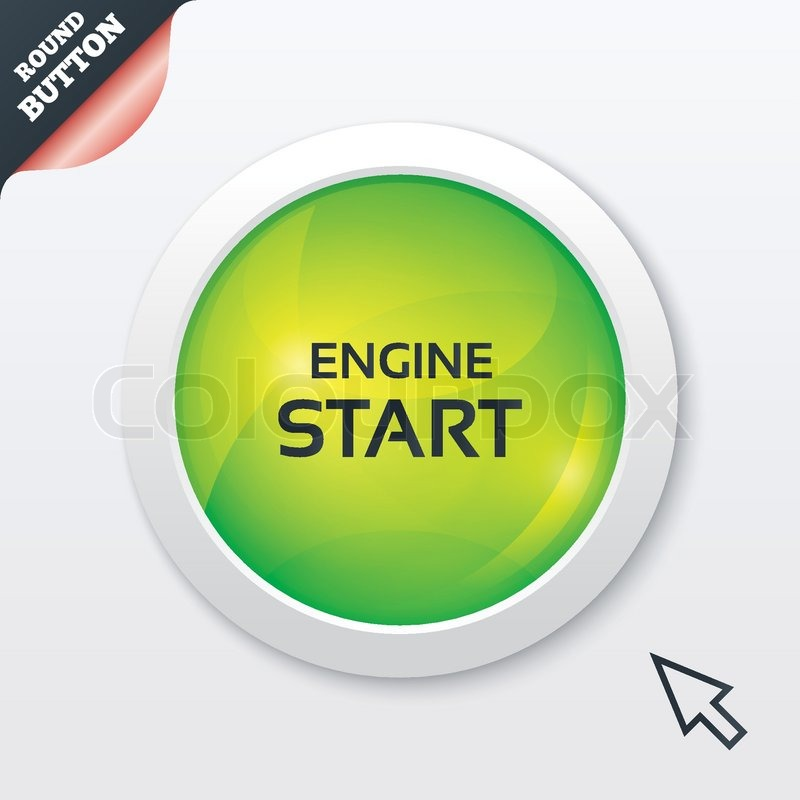 Start Motor Zeichen Symbol. Ein-/Ausschalter. | Vektorgrafik | Colourbox