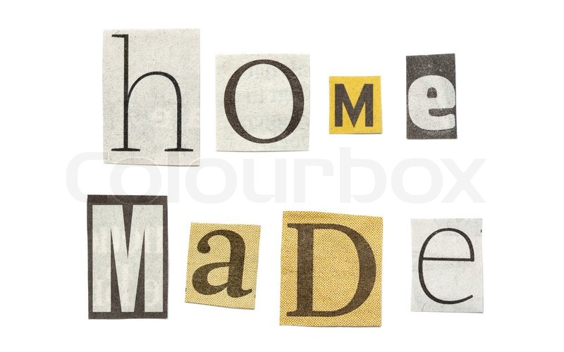 Homemade words composed from isolated cutout newspaper letters homemade words composed from isolated cutout newspaper letters stock photo spiritdancerdesigns Gallery