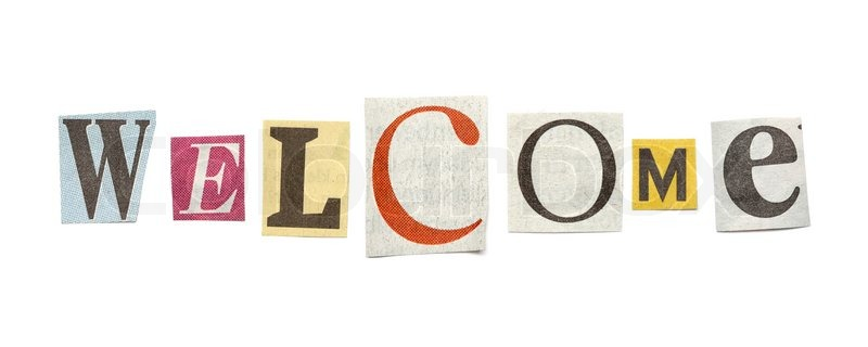 Welcome words composed from isolated cutout newspaper letters stock image of welcome words composed from isolated cutout newspaper letters spiritdancerdesigns Gallery