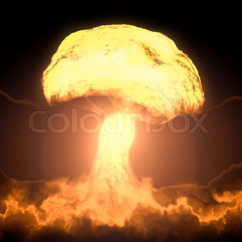 an image of a nuclear bomb explosion stock photo colourbox