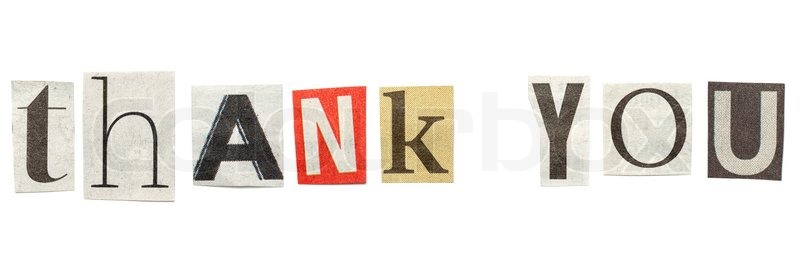 Thank you words composed from isolated cutout newspaper letters stock image of thank you words composed from isolated cutout newspaper letters spiritdancerdesigns Gallery