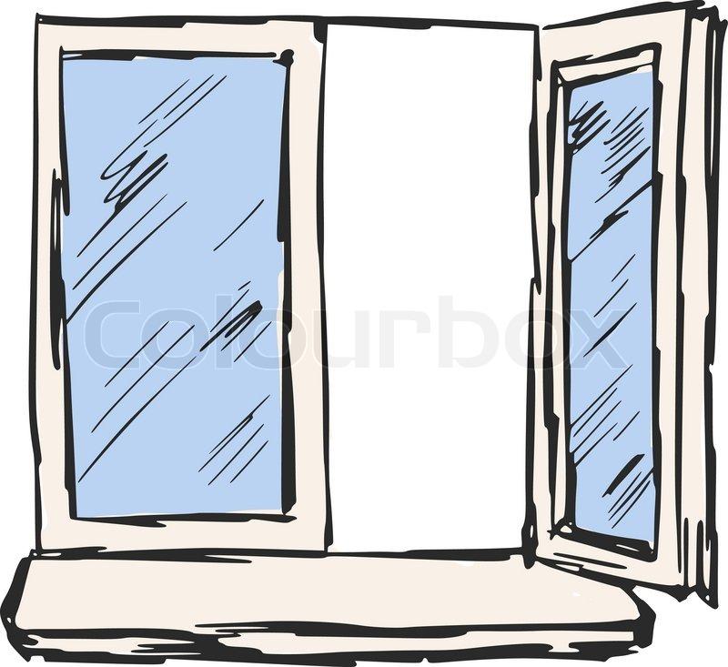 hand drawn sketch cartoon illustration of window stock vector colourbox. Black Bedroom Furniture Sets. Home Design Ideas