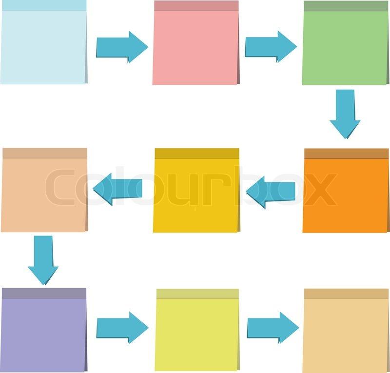 Notizzettel Papier Diagramm, Vorlage | Vektorgrafik | Colourbox