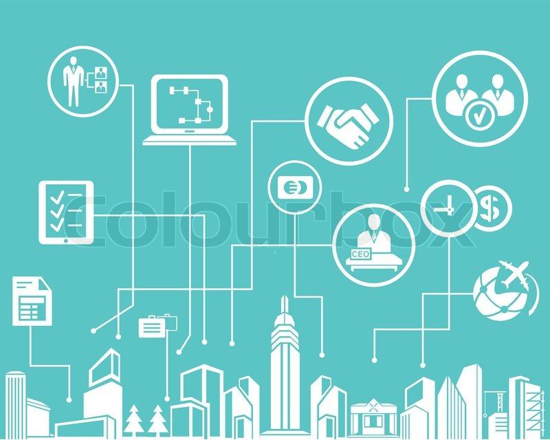 Business netzwerk in blauem hintergrund info grafik for Business netzwerk