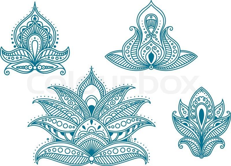 abstrakte persische und indische florale elemente vektorgrafik colourbox. Black Bedroom Furniture Sets. Home Design Ideas