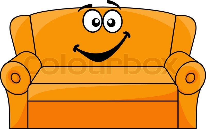 Cartoon gepolsterte couch stock vektor colourbox