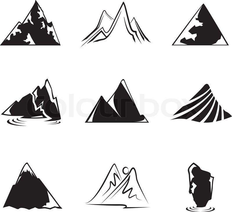 silhouette berg symbole vektorgrafik colourbox iceberg clip art images iceberg clipart image