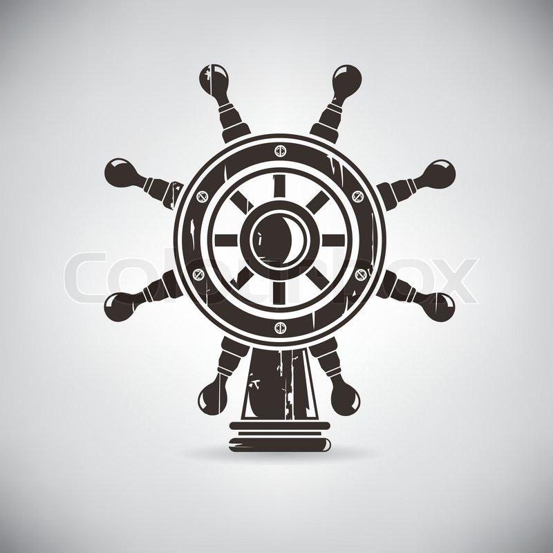Retro Nautical Anchor Crest Marine Symbol Stock Vector Colourbox