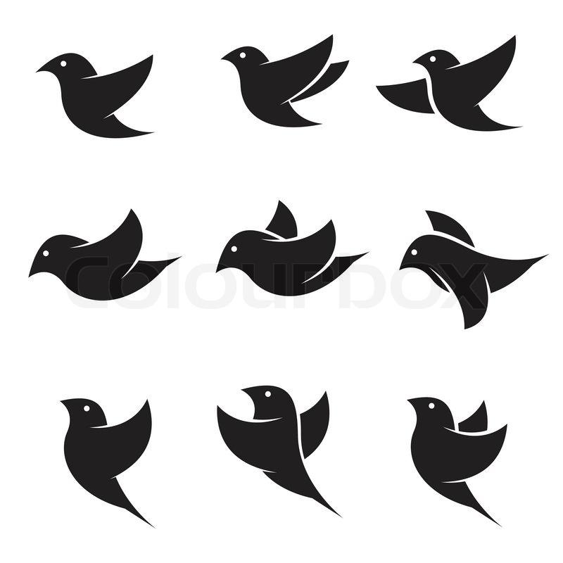 satz von vektor vogel icons vektorgrafik colourbox. Black Bedroom Furniture Sets. Home Design Ideas