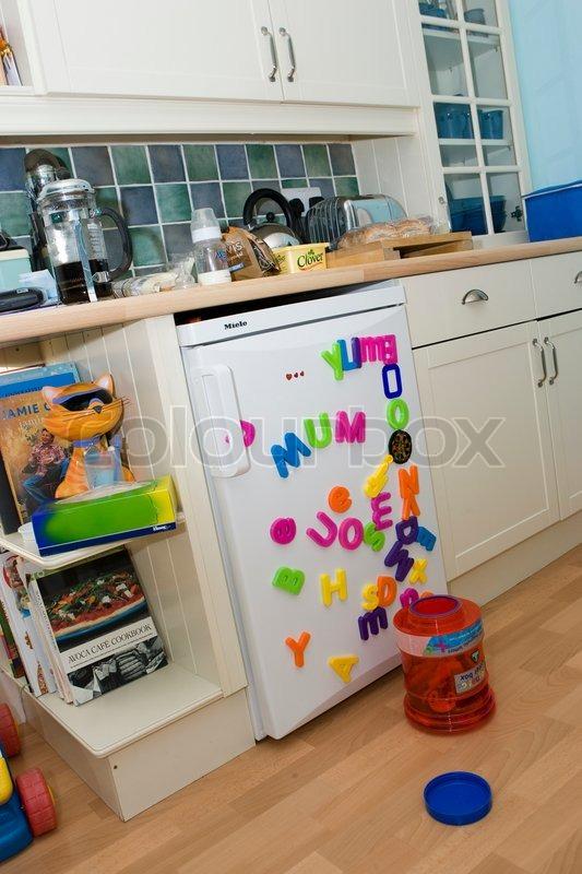 Messy kitchen, stock photo