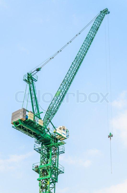 Crane construction, stock photo